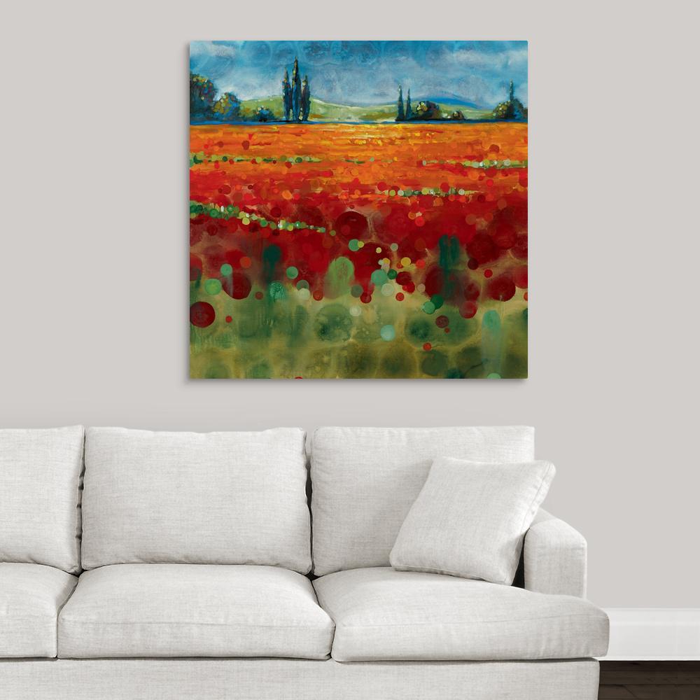"""Spring Meadows II"" by Selina Werbelow Canvas Wall Art"