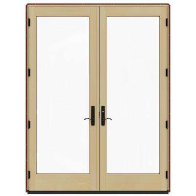 72 in. x 96 in. W-4500 Red Clad Wood Left-Hand Full Lite French Patio Door w/Lacquered Interior