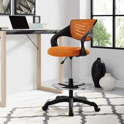 Thrive Mesh Drafting Chair in Orange