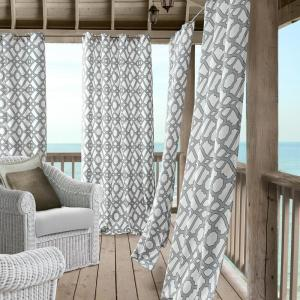 Marin 50 inch W x 108 inch L Polyester Indoor/Outdoor Single Window Curtain...