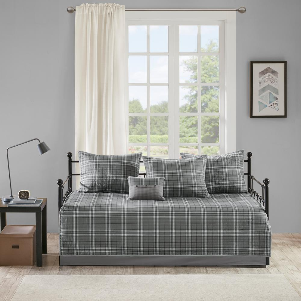 Campbell 6 Piece Grey Daybed Bedding Set