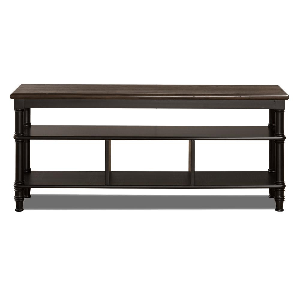 Seneca Waxed Black Storage Console