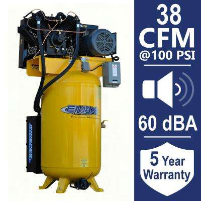 Industrial PLUS 80 Gal. 10 HP 1-Phase Silent Air Electric Air Compressor