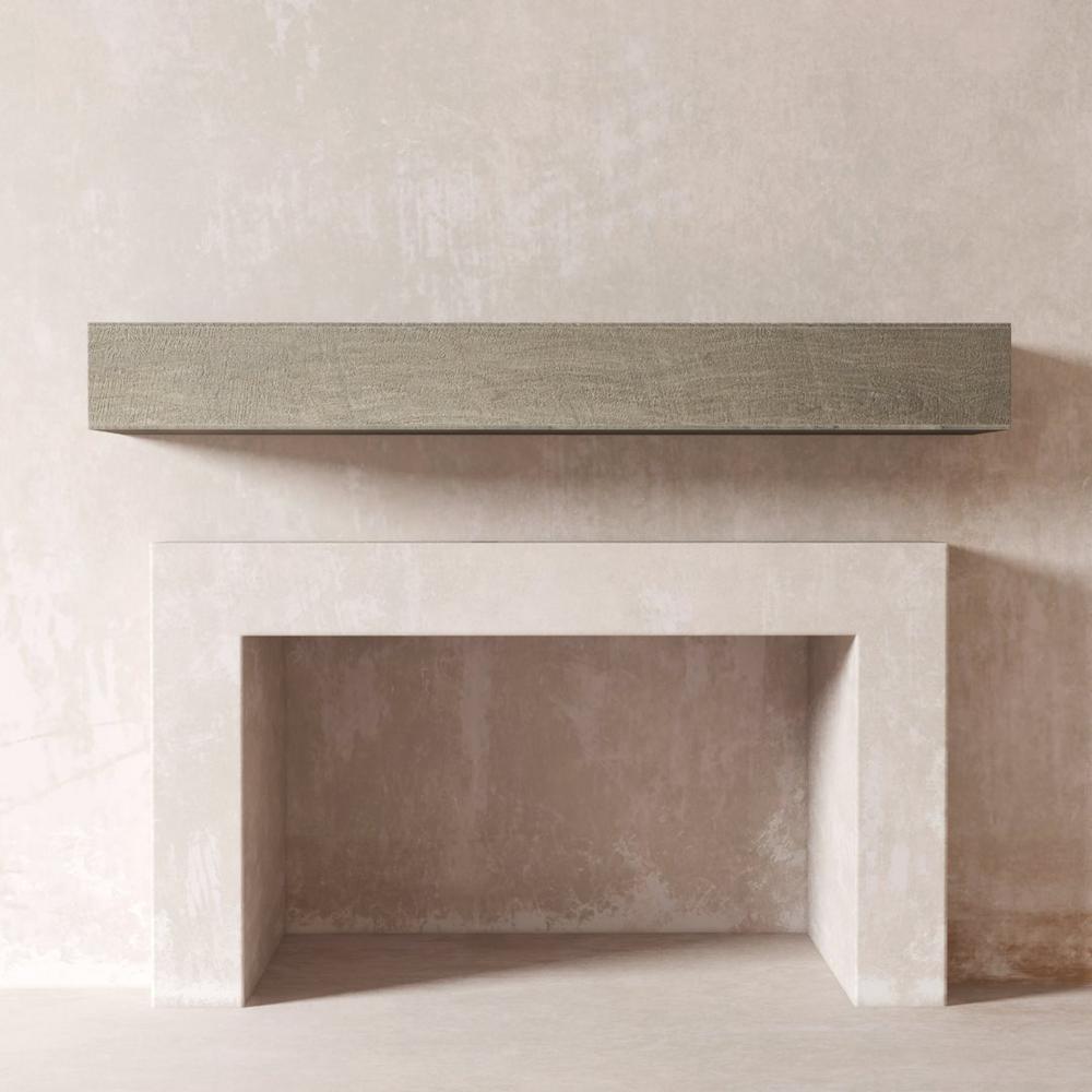 DESSIE 36 in. Fireplace Wall Cap-Shelf Mantel in Rustic Grey