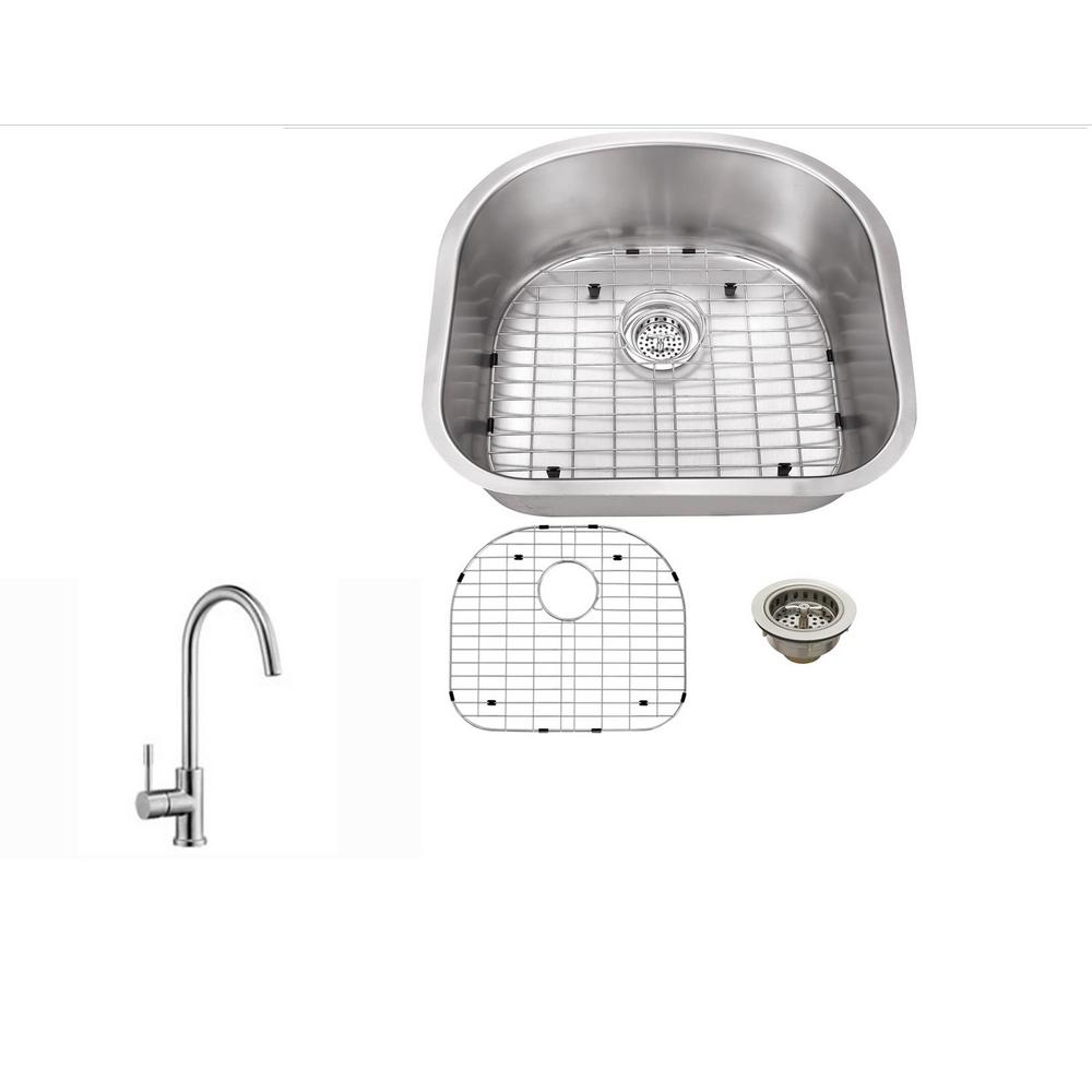 Ipt sink company undermount 23 in 16 gauge stainless for The kitchen sink company