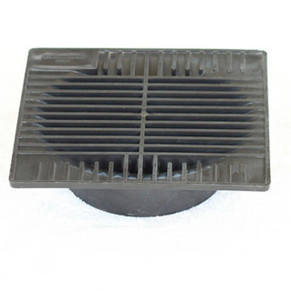 DrainTech 9 in. Square Grate for 6 in. Pipe