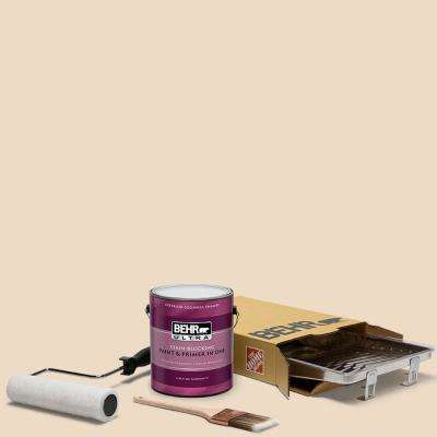 1 gal. #N290-2 Authentic Tan Ultra Eggshell Enamel Interior Paint and 5-Piece Wooster Set All-in-One Project Kit