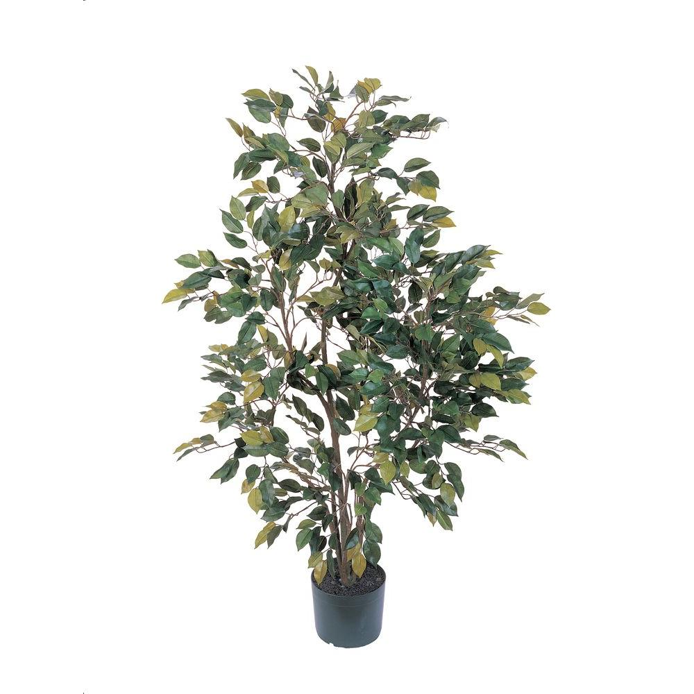 Nearly Natural 4 Ft Ficus Silk Tree 5074 The Home Depot