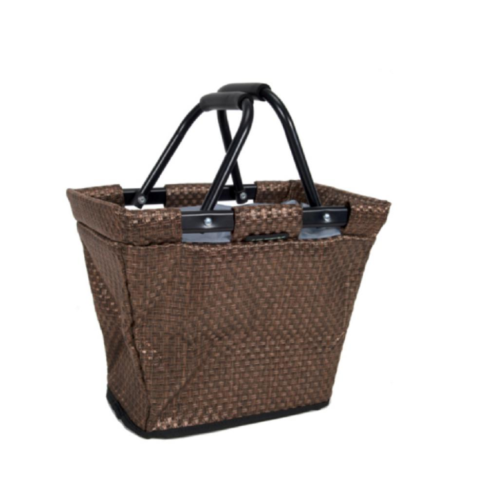Brown NEW Huffy Bike Basket Collapsable