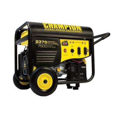 7500-Watt Gasoline Powered Electric Start Portable Generator and 25 ft. Extension Cord