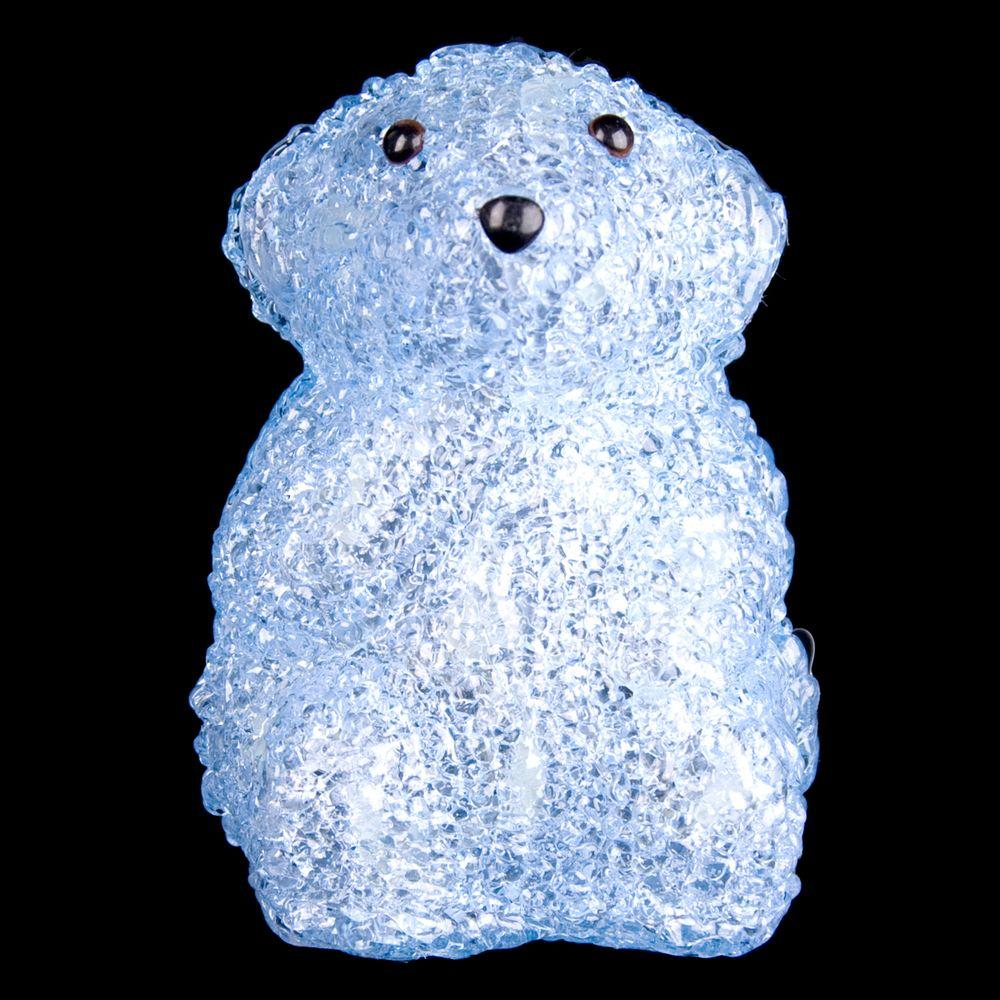 XEPA 6 in. Decorative Blue Baby Bear Standing LED Light