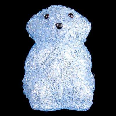 6 in. Decorative Blue Baby Bear Standing LED Light