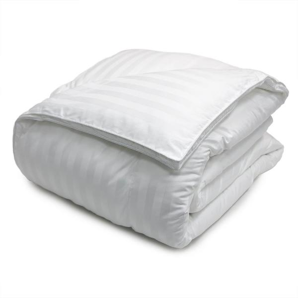 Blue Ridge Down Alternative 500 Thread CountDamask Stripe Full/Queen Comforter