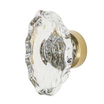 Chateau Crystal 1-3/4 in. Cabinet Knob in Unlacquered Brass