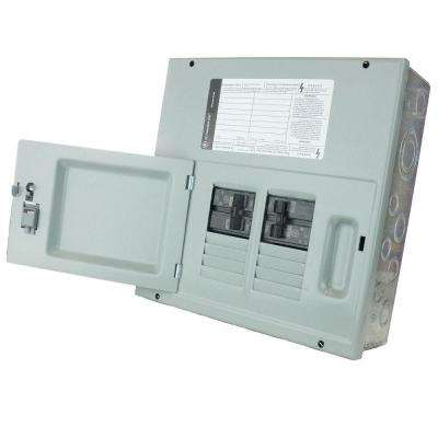 30 Amp 8-Space 120/240V Single Phase 3 Wire Surface Mount NEMA 1 Generator Panel