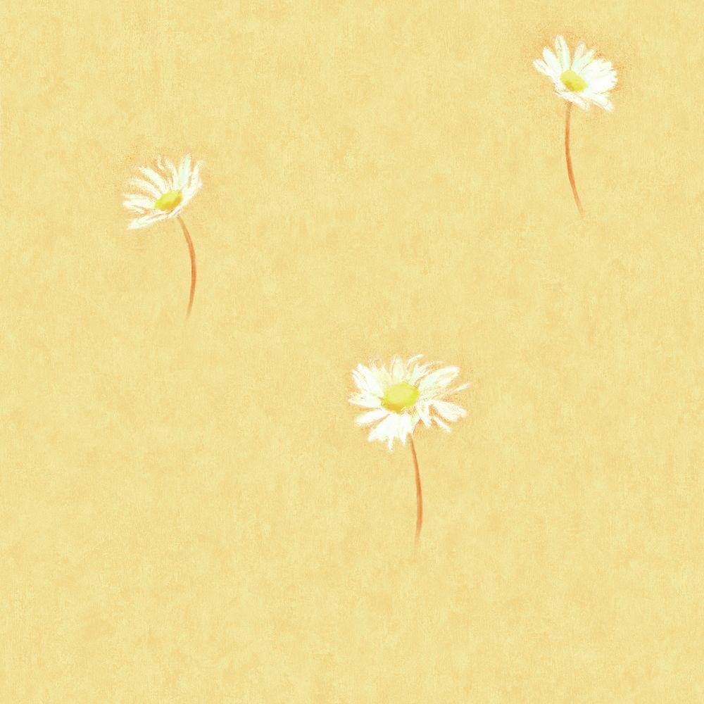 Wallpaper Sample - Yellow - Floral - Wallpaper - Decor - The Home Depot