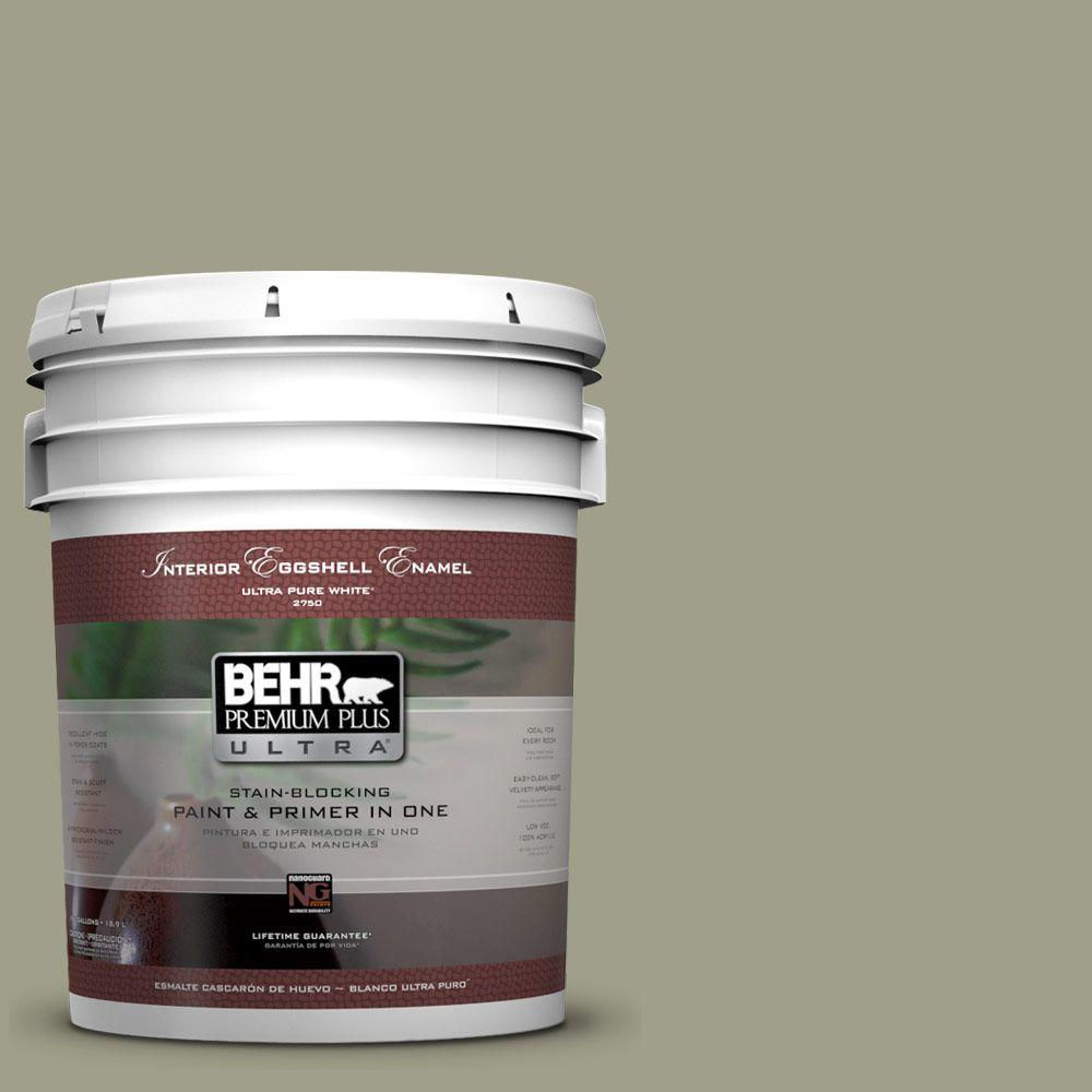 BEHR Premium Plus Ultra 5-gal. #BXC-82 Potting Moss Eggshell Enamel Interior Paint