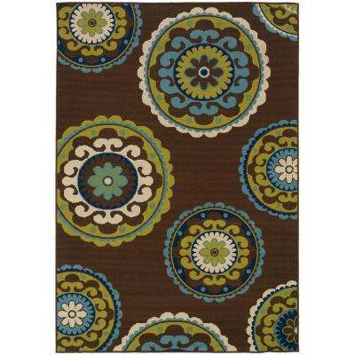 Cabana Brown 8 ft. 6 in. x 13 ft. Area Rug