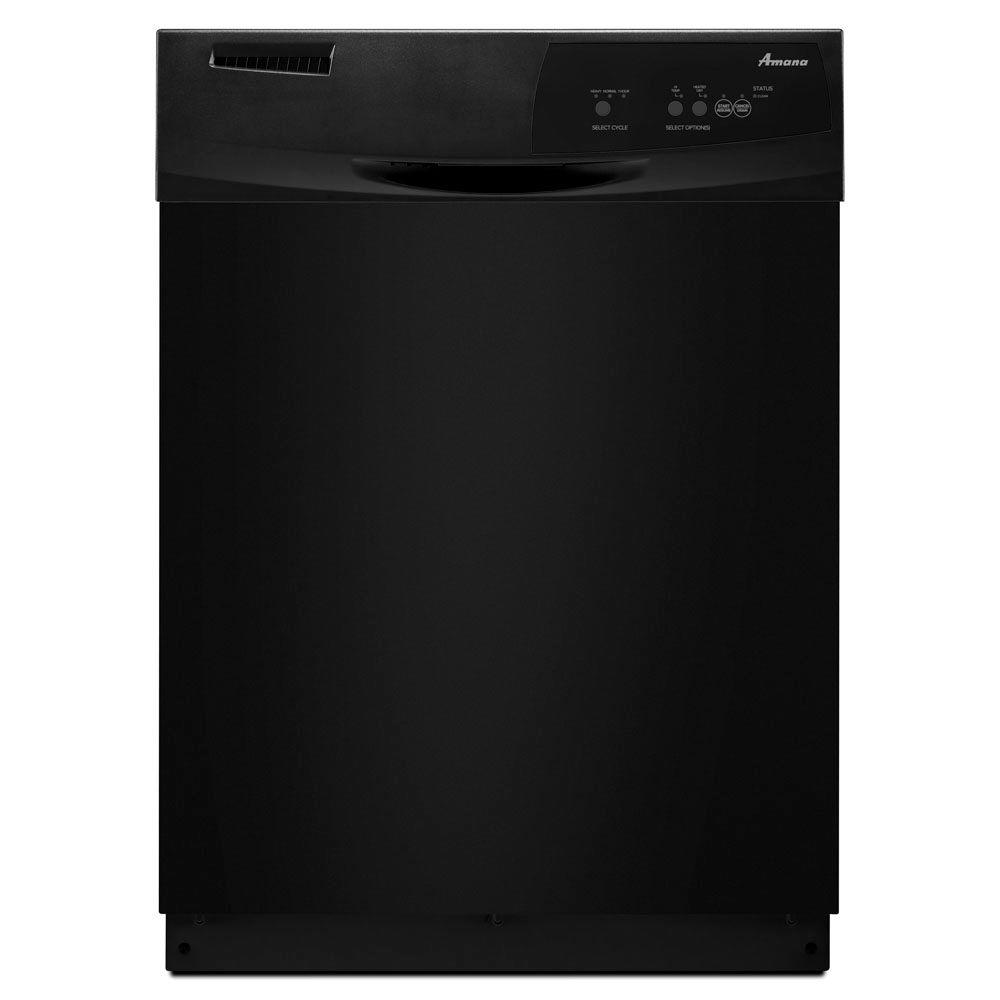 Amana Front Control Tall Tub Dishwasher in Black with Triple Filter Wash System