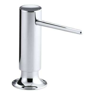 Countertop Brass Soap and Lotion Dispenser in Polished Chrome