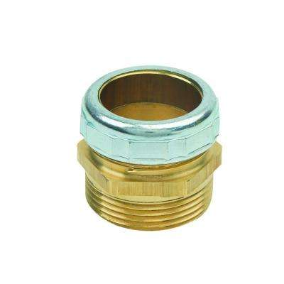 1-1/4 in. O.D. Compression x 1-1/4 in. MIP (1-1/4 in. I.D. Fem Sweat) Brass Waste Connector with Die Cast Nut in Chrome