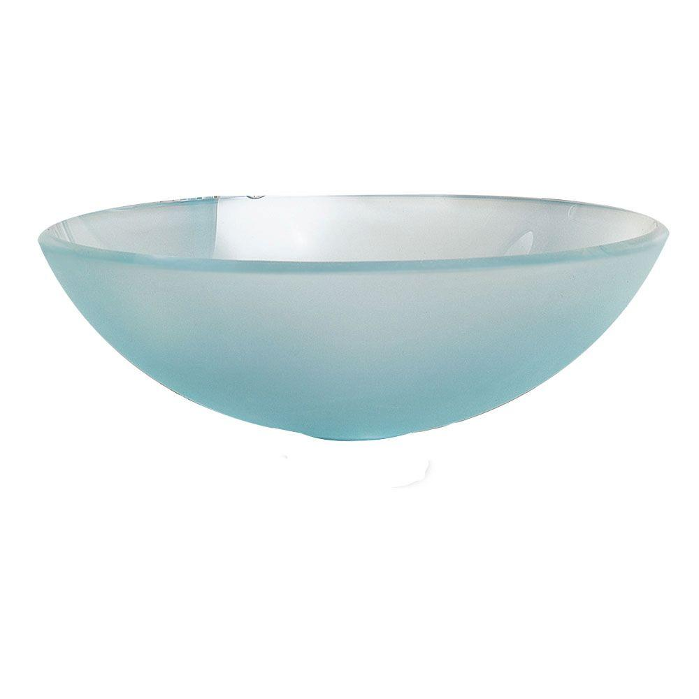Miami Vessel Sink in Frosted White