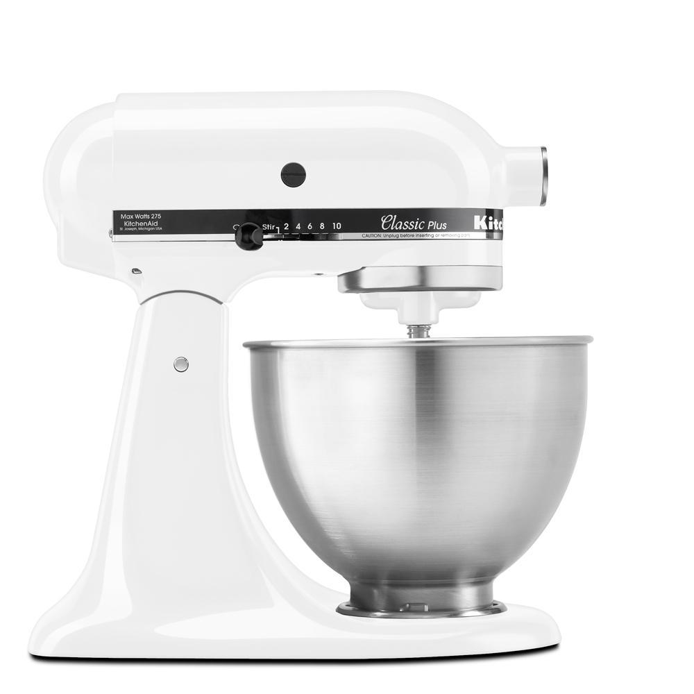 Classic Plus Series 4.5 Qt. 10-Speed White Tilt-Head Stand Mixer