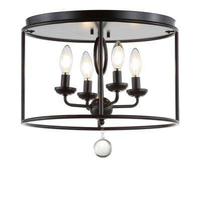 Alma 16 in. Oil Rubbed Bronze Metal LED Flush Mount