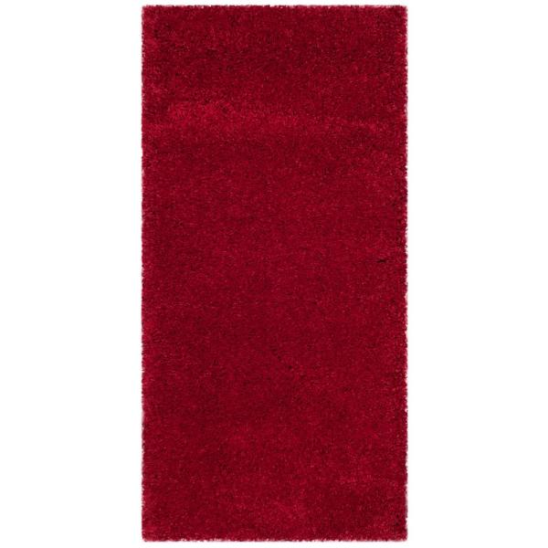 Milan Shag Red 2 ft. x 4 ft. Area Rug