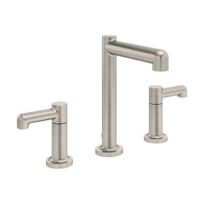 Museo 8 in. Widespread 2-Handle Bathroom Faucet with Drain Assembly in Satin Nickel (1.5 GPM)