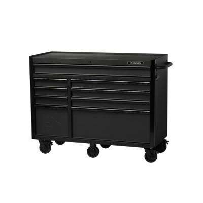 Industrial 52 in. W x 21.7 in. D 9-Drawer Rolling Cabinet Tool Chest in Textured Black
