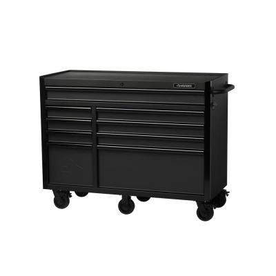 Heavy-Duty 52 in. W 9-Drawer, Deep Tool Chest Rolling Cabinet in Matte Black