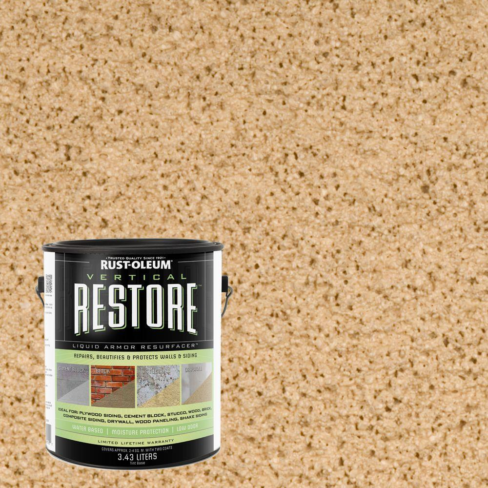 Rust-Oleum Restore 1-gal. Sandstone Vertical Liquid Armor Resurfacer for Walls and Siding