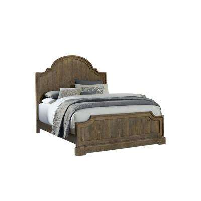 Meadow Weathered Gray Queen Complete Panel Bed