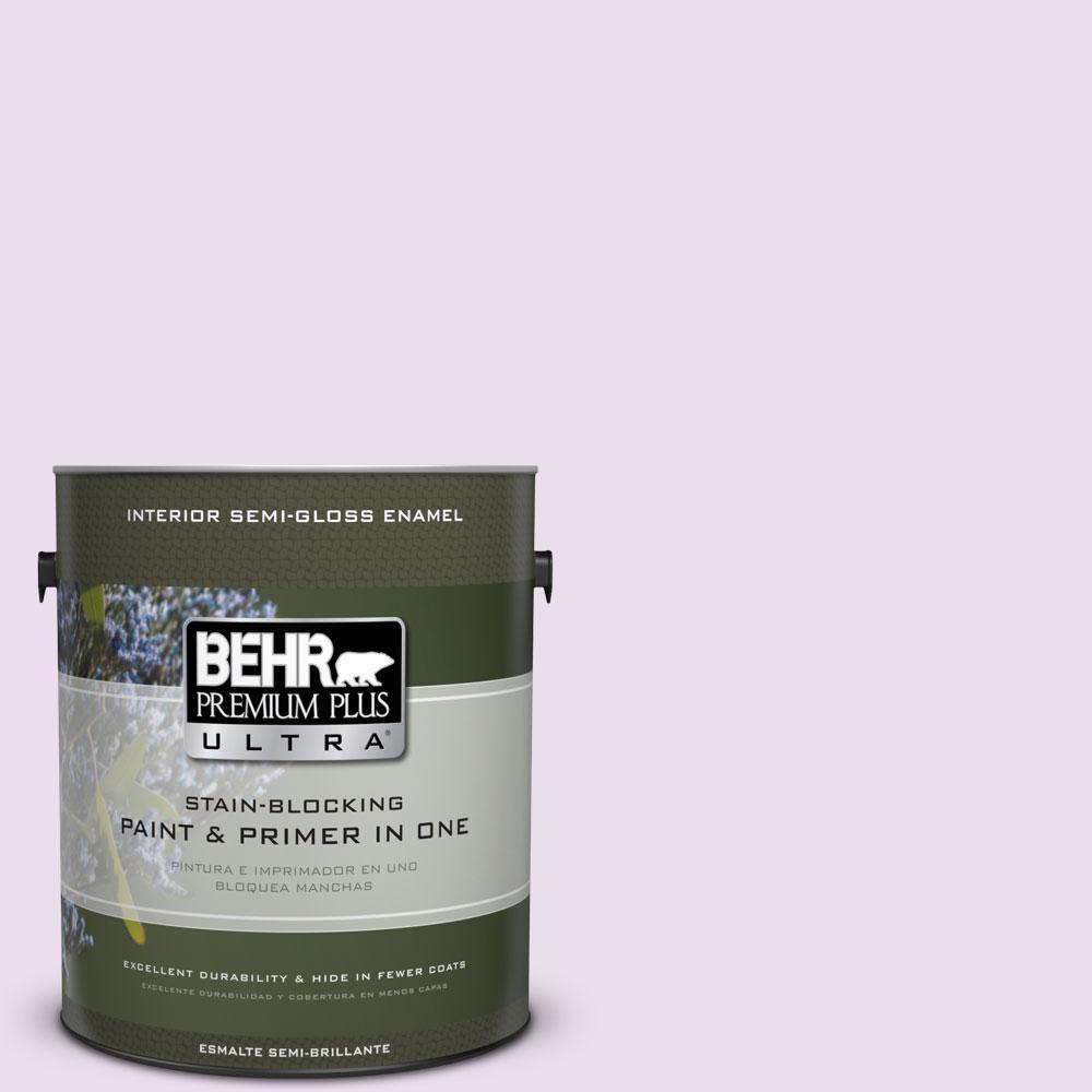 BEHR Premium Plus Ultra 1-gal. #650A-2 Ice Ballet Semi-Gloss Enamel Interior Paint