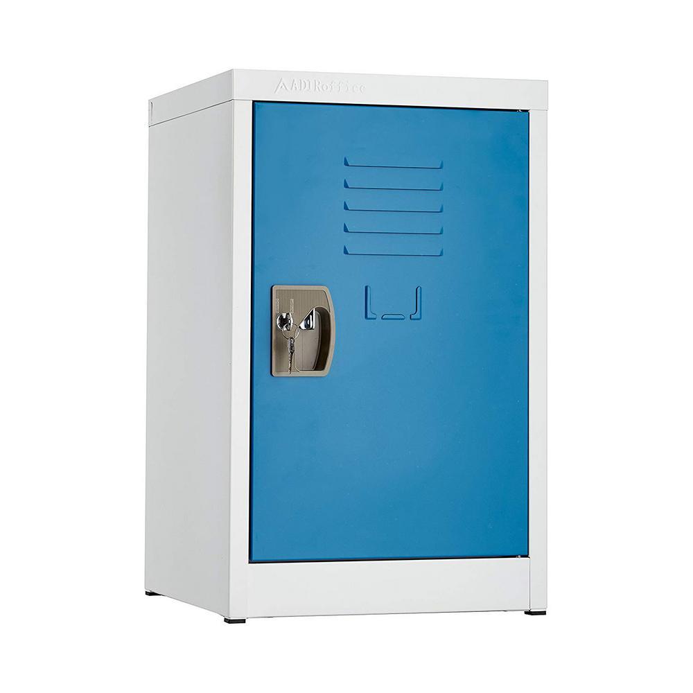 24 in. H x 15 in. W Steel Single Tier Locker in Blue