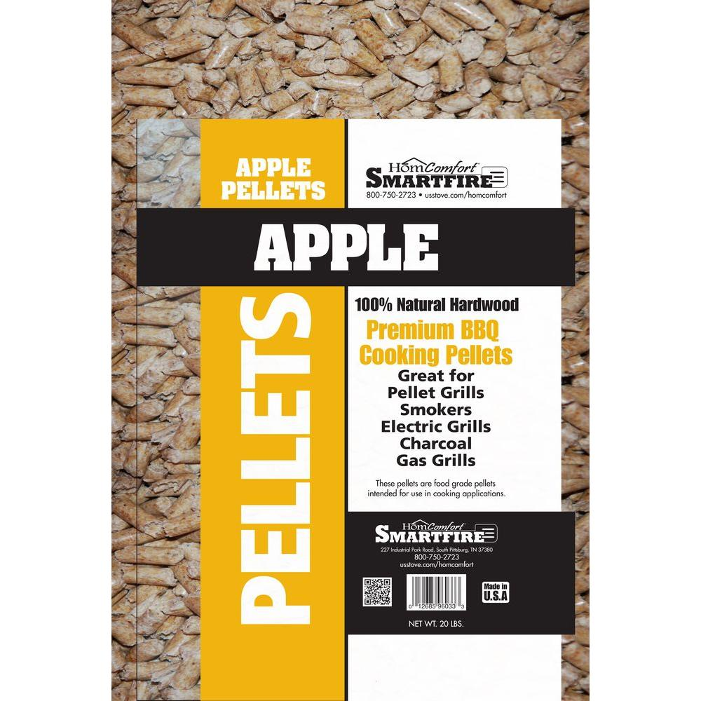 Homcomfort apple wood pellets for use in pellet grills