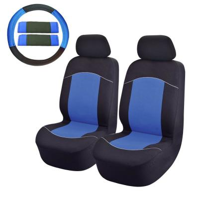 Full Set of Black /& Blue Mesh Fabric Comfortble Interior Styling Car Seat Covers
