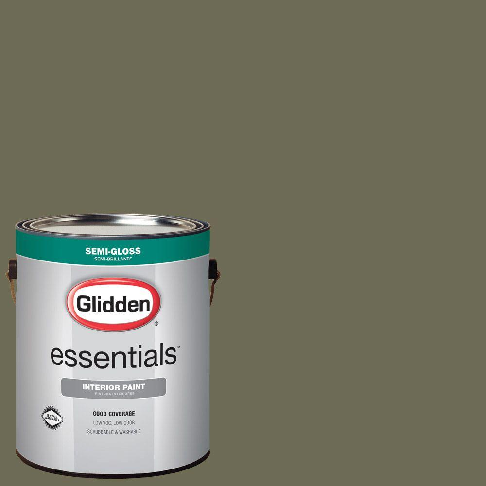 Hdgg26 Olive Green Semi Gloss Interior Paint