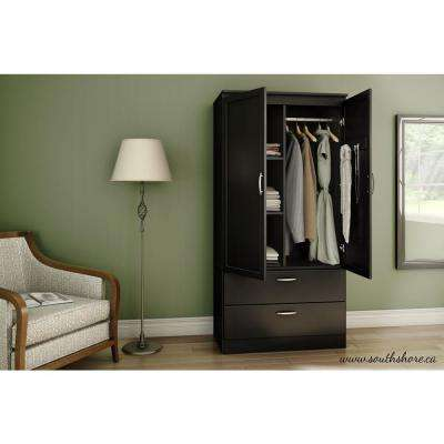 Acapella Pure Black Armoire