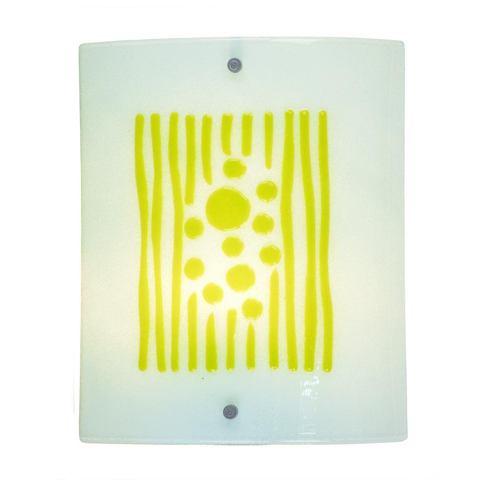 Lennon 7.5-Watt Silver Integrated LED Wall Sconce