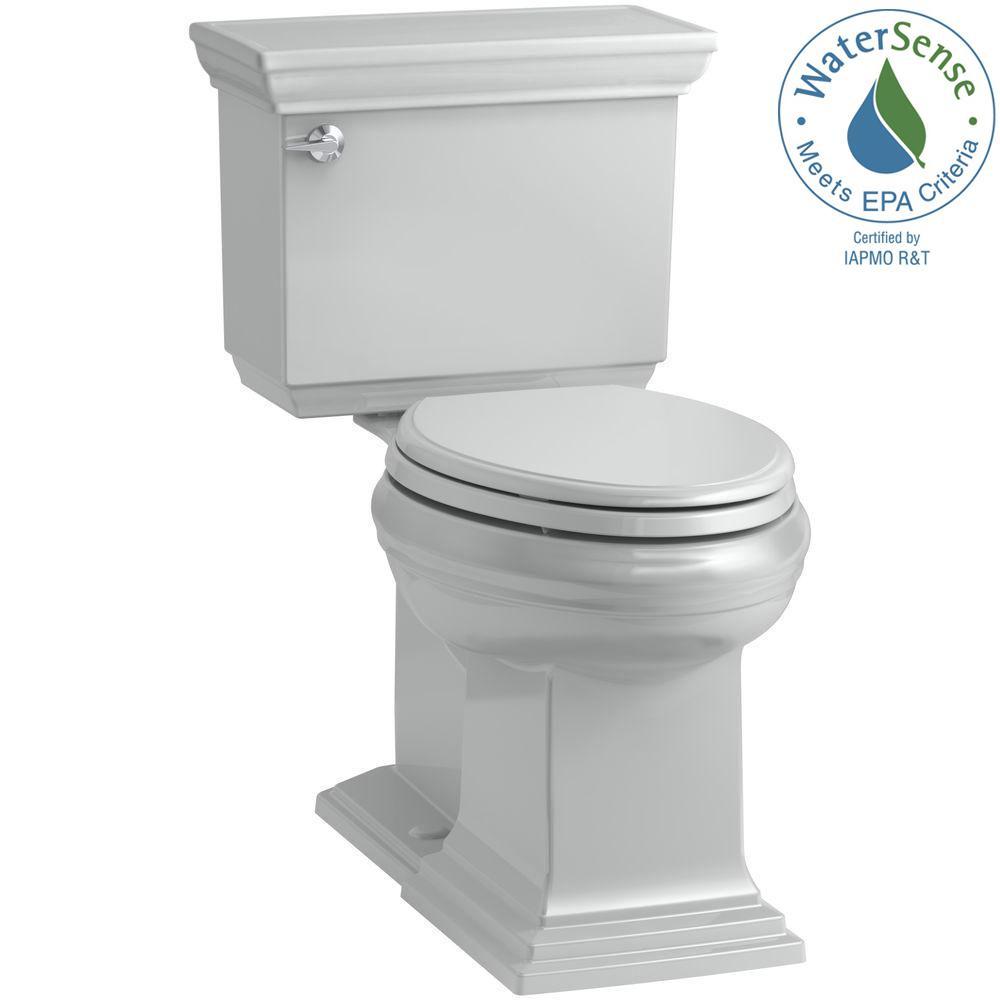 Memoirs 2-piece 1.28 GPF Single Flush Elongated Toilet in Ice Grey