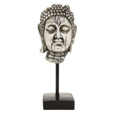 12 in. Three Hands Buddha Decoration In Silver