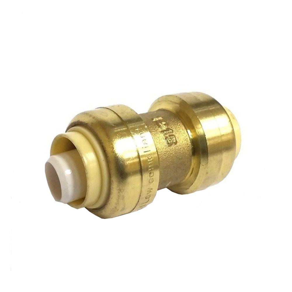 3 4 In Brass Push Connect Plumbing Fitting Coupling 10 Pack