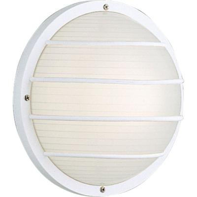 White 10 in. Outdoor Wall Lantern