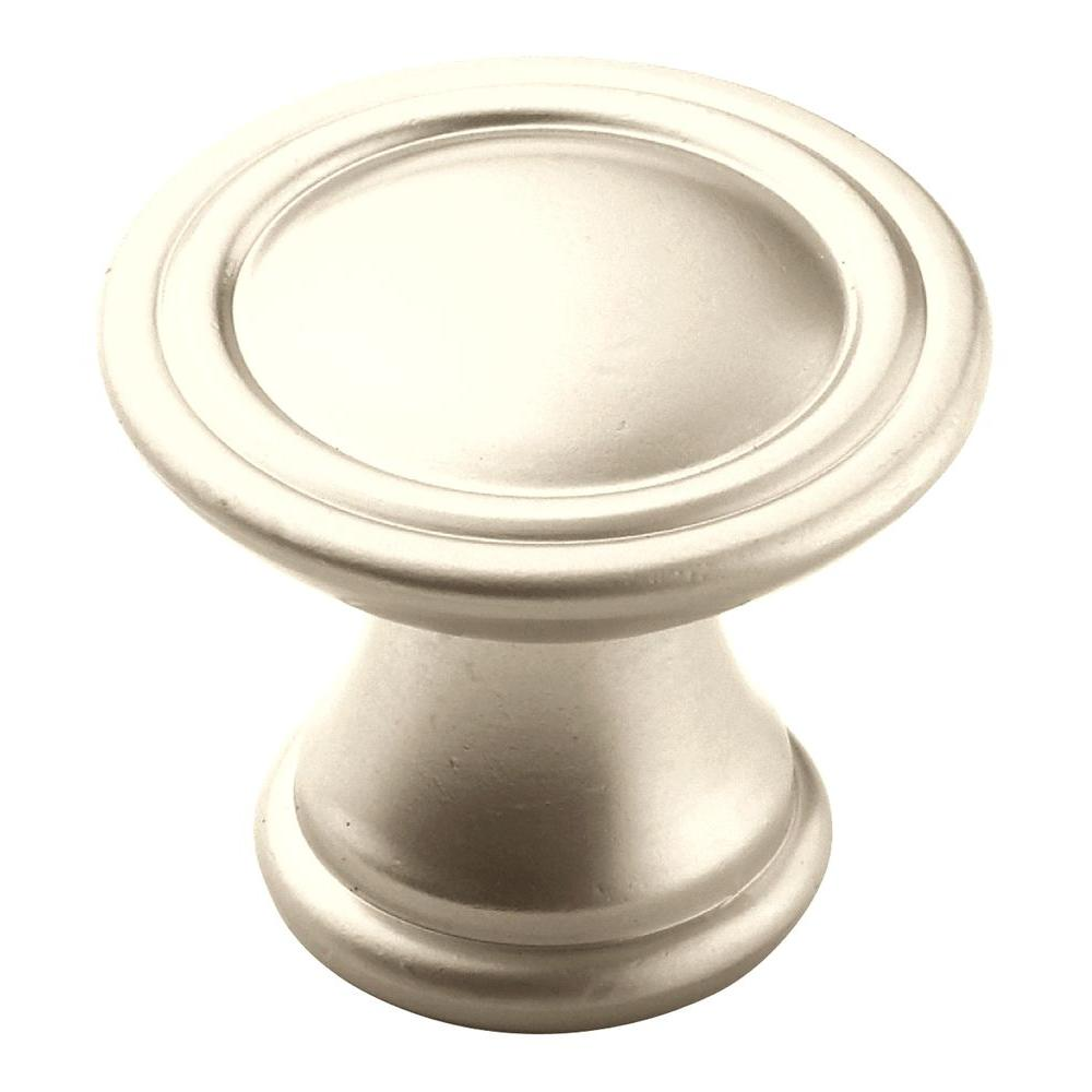 1-3/16 in. Satin Nickel Cabinet Knob