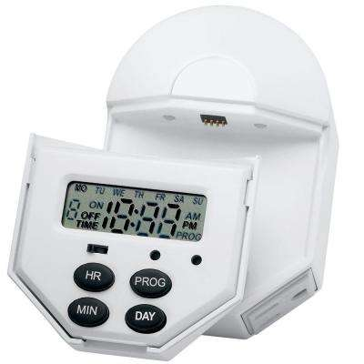 Indoor Digital 7 Day, 6 Event Timer with 2 Outlets and Removable Screen