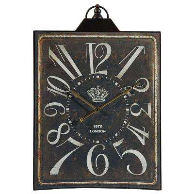 26 in. x 16 in. Metal Tabletop Clock