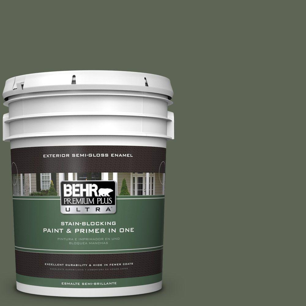 BEHR Premium Plus Ultra 5-gal. #BXC-06 Amazon Foliage Semi-Gloss Enamel Exterior Paint