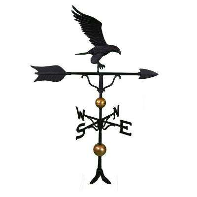 52 in. Deluxe Black Full Bodied Eagle Weathervane